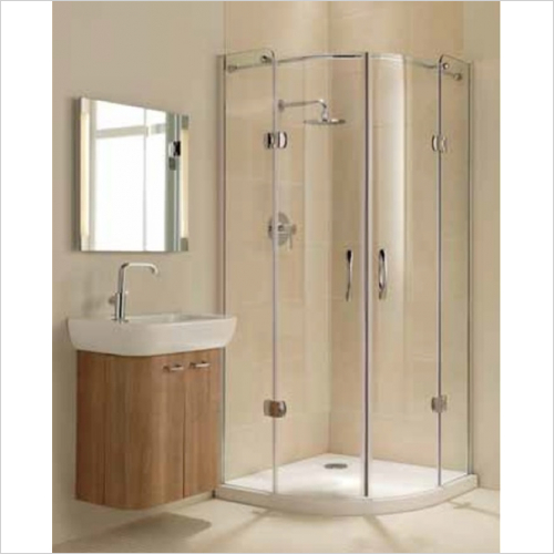 Impey - Frameless Hinged Quadrant Door 1200mm LH