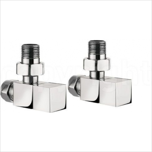 Bauhaus - Elite T Wall Mounted Angled Square Radiator Valves