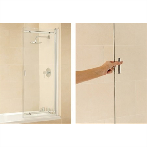 Impey - Frameless Sliding Bathscreen 1065mm