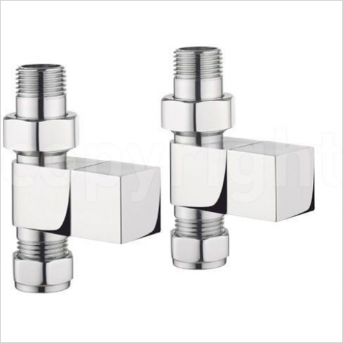 Bauhaus - Elite T Straight Square Radiator Valves