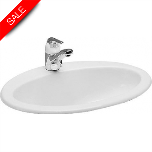 Laufen - Indova Drop In Washbasin 570 x 450mm 1TH