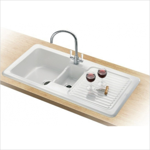 Franke - V&B 1.5 Bowl Ceramic Sink & RH Drainer Designer Pack