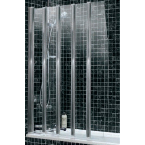 Impey - Frameless Folding Four Panel Bathscreen 865mm