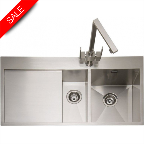 Caple Sinks - Cubit 150 Inset Sink With LH Drainer