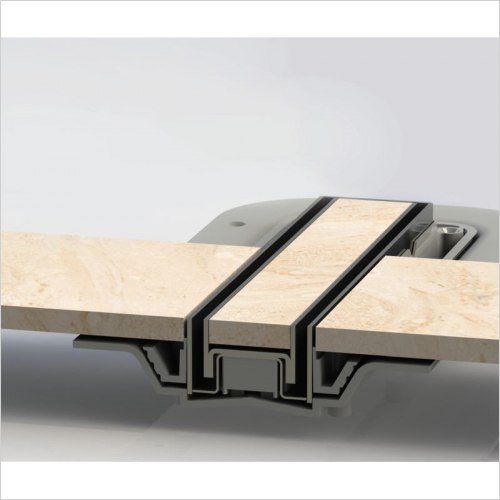 Impey - Tiled Insert Linear Top - Tiled Linear 400 Drain Horizontal