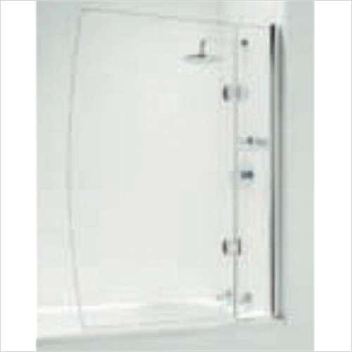 Impey - Hinged D Bathscreen With Basket 800mm