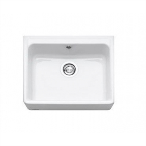 Franke - Belfast 1.0 Bowl Ceramic Sink, 600 x 500mm