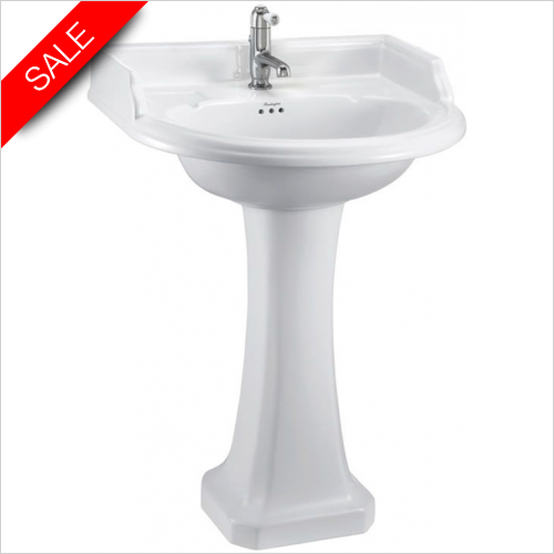 Burlington - Classic Round Basin 65cm 2TH