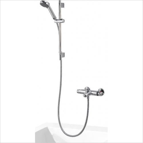 Aqualisa - Midas 100 Bath Shower Mixer With Adjustable Head - HP/Combi