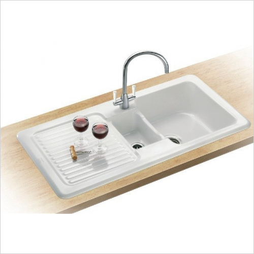 Franke - V&B 1.5 Bowl Ceramic Sink & LH Drainer Designer Pack