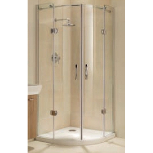 Impey - Frameless Hinged Quadrant Door 900mm
