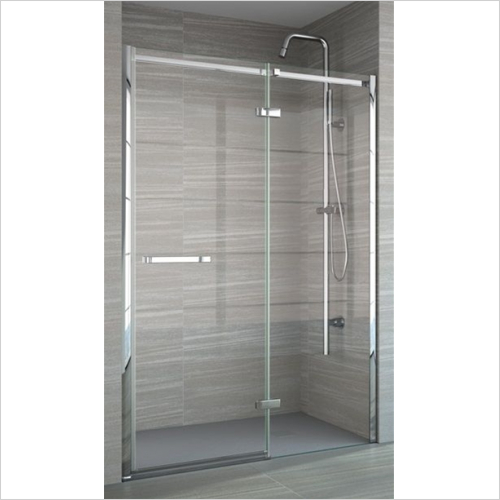 Merlyn - 8 Series Frameless Hinge & Inline Incl MStone Tray 1600mm