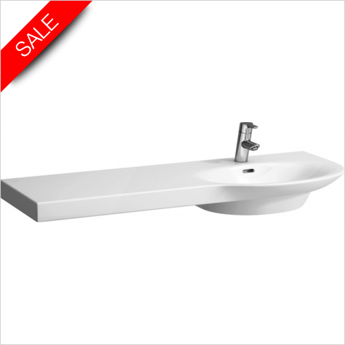 Laufen - Palace Countertop Washbasin 1200 x 460mm 1TH Shelf Left