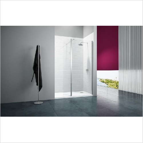 Merlyn - 8 Series Showerwall With Swivel Panel 1200mm Incl. Tray