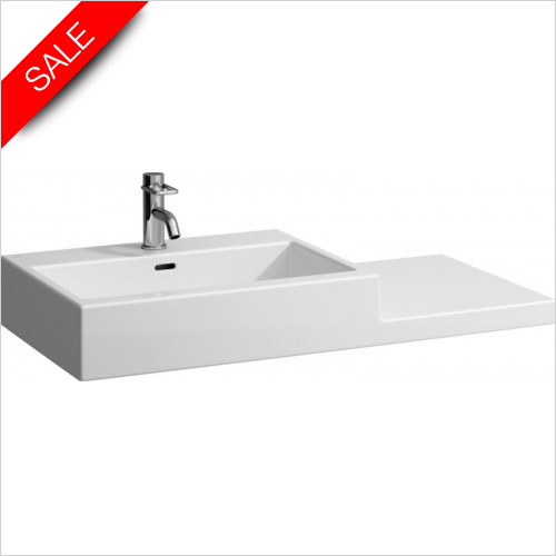 Laufen - Living City Washbasin With RH Shelf 1000 x 460mm 1TH