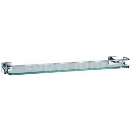 Crosswater - Zeya Glass Shelf With Rail 500mm
