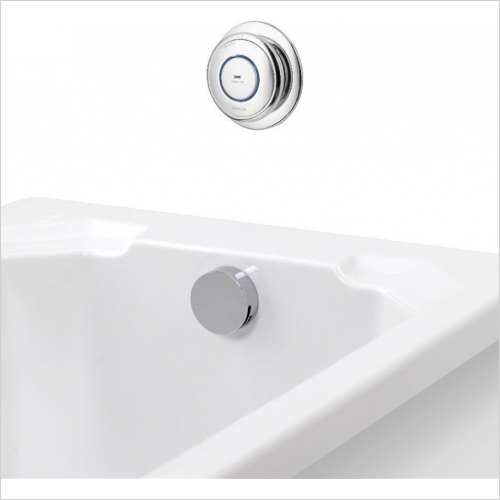 Aqualisa - Quartz Digital Bath With Overflow Filler - Gravity Pumped