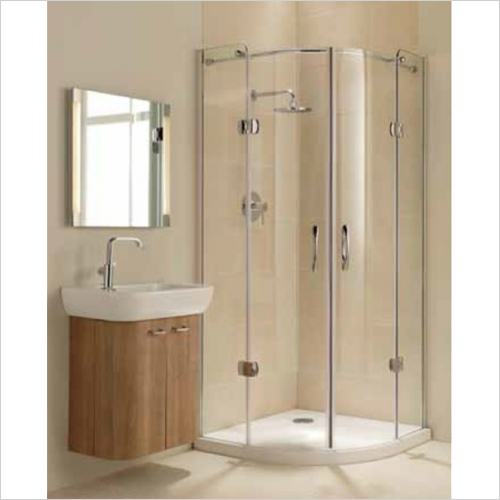 Impey - Frameless Hinged Quadrant Door 1200mm RH