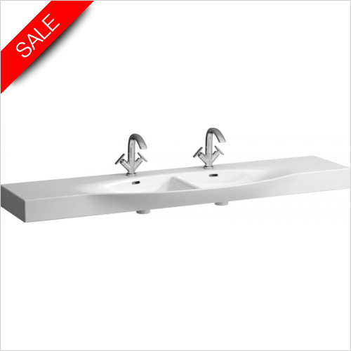 Laufen - Palace Countertop Double Washbasin 1800 x 380 x 510mm 1TH