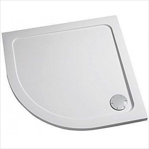 Mira - Flight Low Quadrant Tray 1000x800mm RH (0 Upstands)