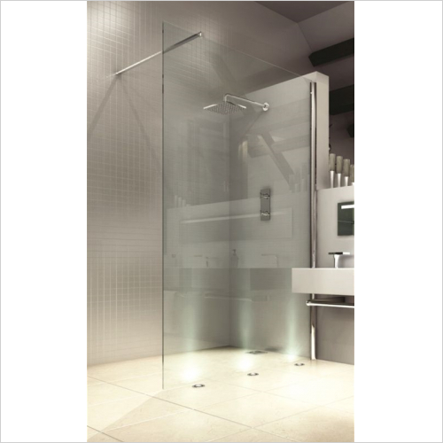 Merlyn - 8 Series Showerwall 1000mm Incl MStone Tray