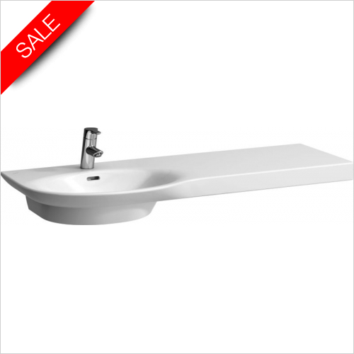 Laufen - Palace Countertop Washbasin 1200 x 460mm 1TH Shelf Right