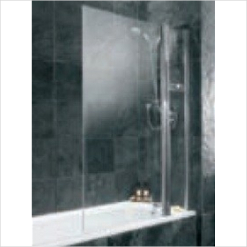 Impey - Hinged Curved Bathscreen With Basket 800mm