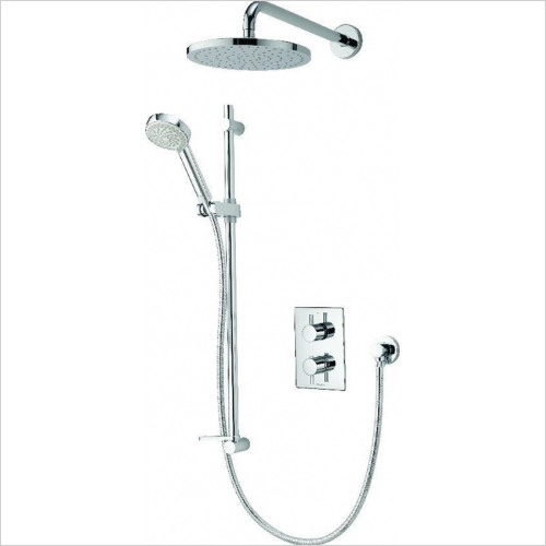 Aqualisa - Dream DCV Divert Mixer Shower W Adj & Wall Fix Drench Heads