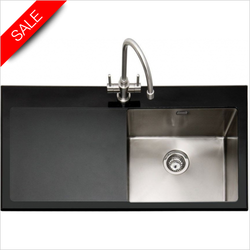 Caple Sinks - Vitrea 100 Inset Sink With LH Drainer