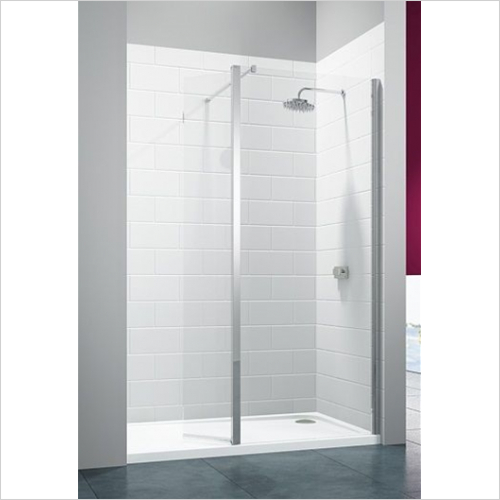 Merlyn - 8 Series Showerwall With Hinged Swivel Panel 1050mm