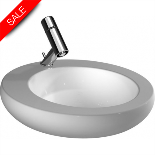 Laufen - Il Bagno Alessi One Drop In Washbasin 500 x 500mm 1TH
