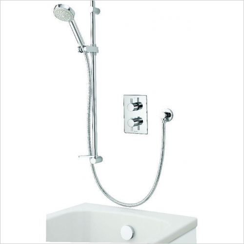 Aqualisa - Dream DCV Divert Mixer Shower W Adj/H & Bath O/flow Filler