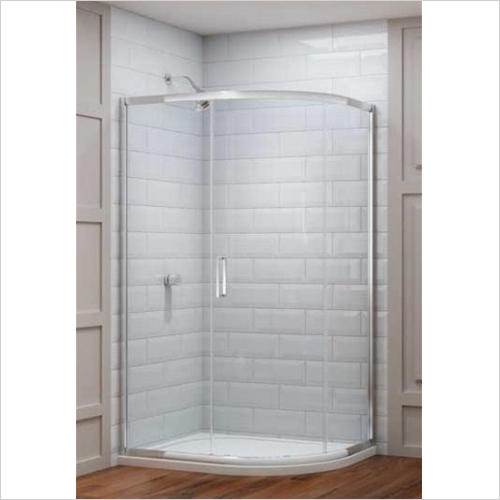 Merlyn - 8 Series 1 Door Offset Quad 1200 x 900mm Incl. Tray LH
