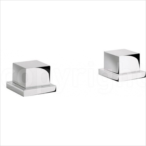 Crosswater - Water Square Panel Valves, Pair, Deck Mounted