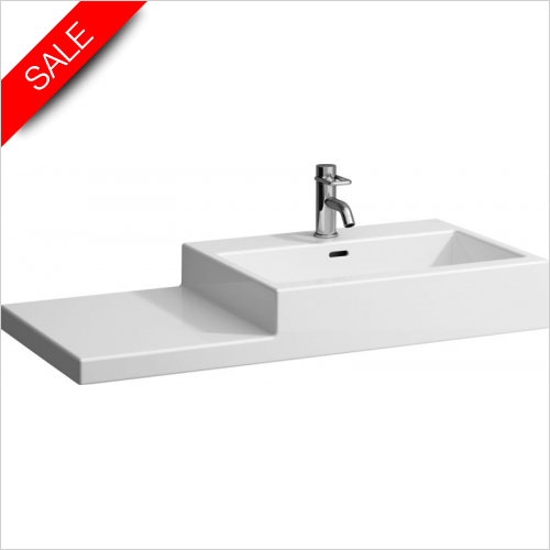 Laufen - Living City Washbasin With LH Shelf 1000 x 460mm 1TH
