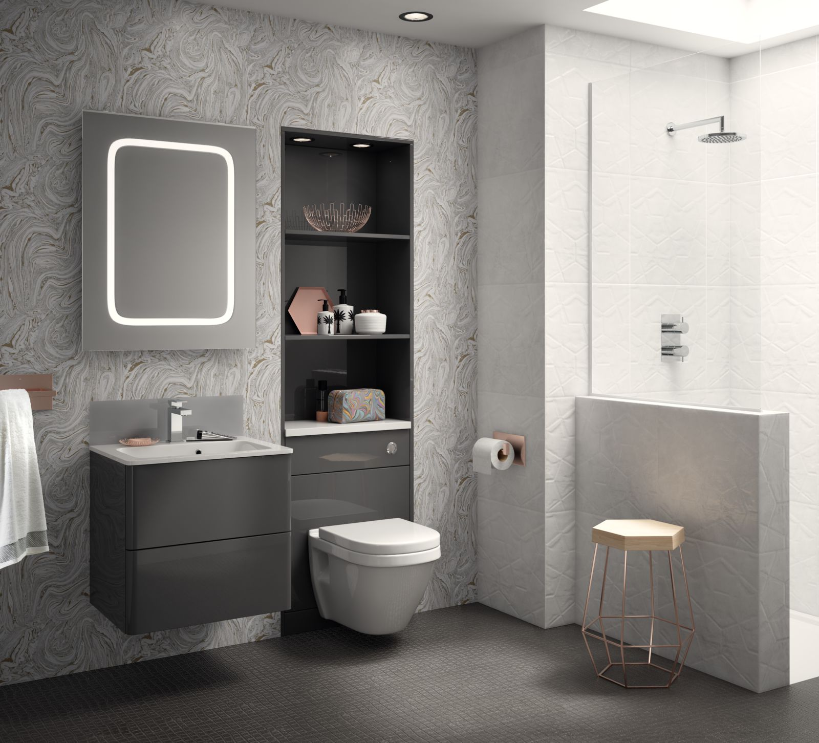 Fiora Has An Encapsulating Gloss Finish Which Creates The Perfect Subtle  Yet Luxurious Tone For A Modern Bathroom.