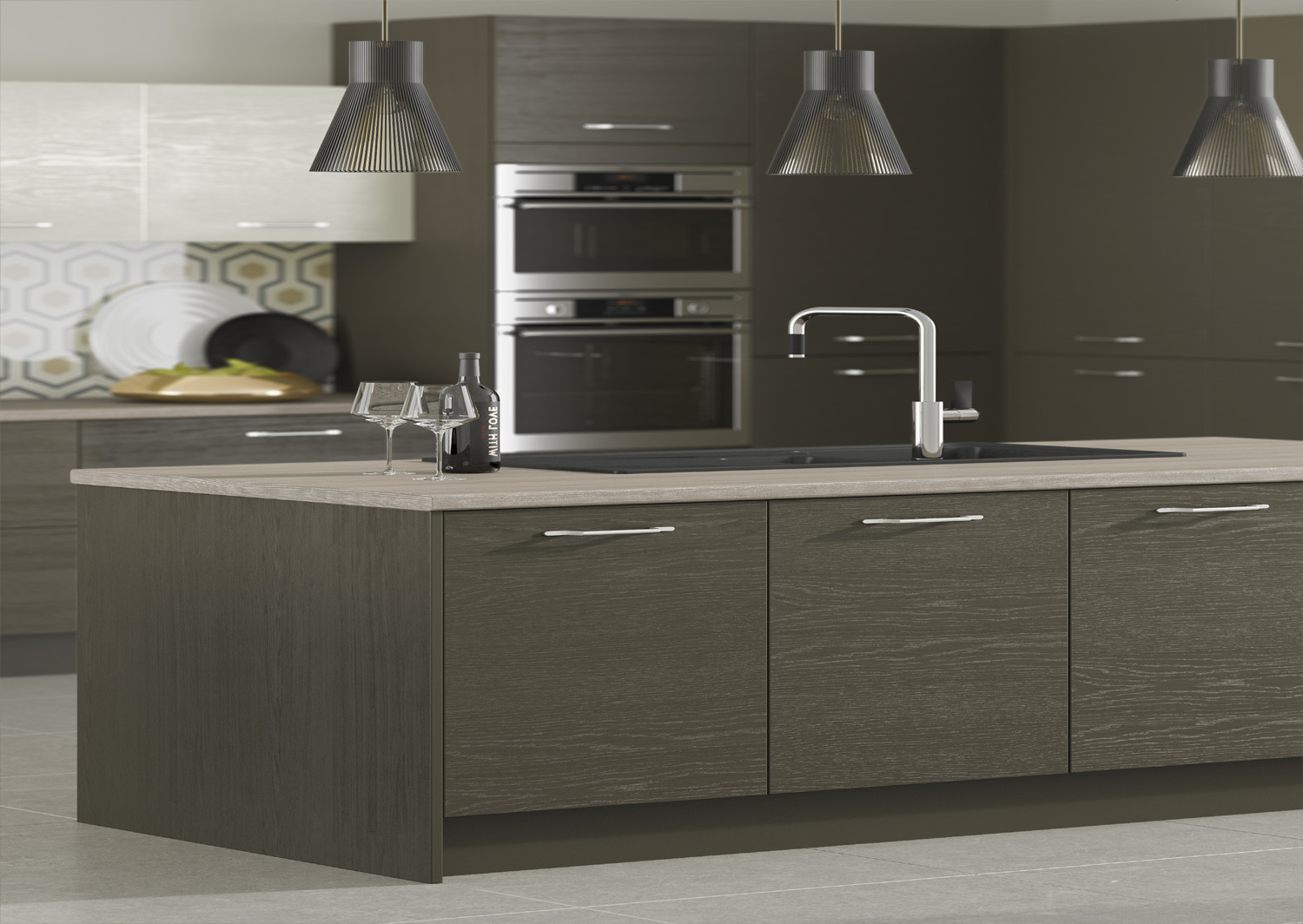 contemporary kitchen furniture detail. Über Chic And Exquisitely Crafted, Every Inch Of This Thoroughly Modern Kitchen Radiates A Contemporary Vibe. The Clean Lines Finishing Touches Create Furniture Detail