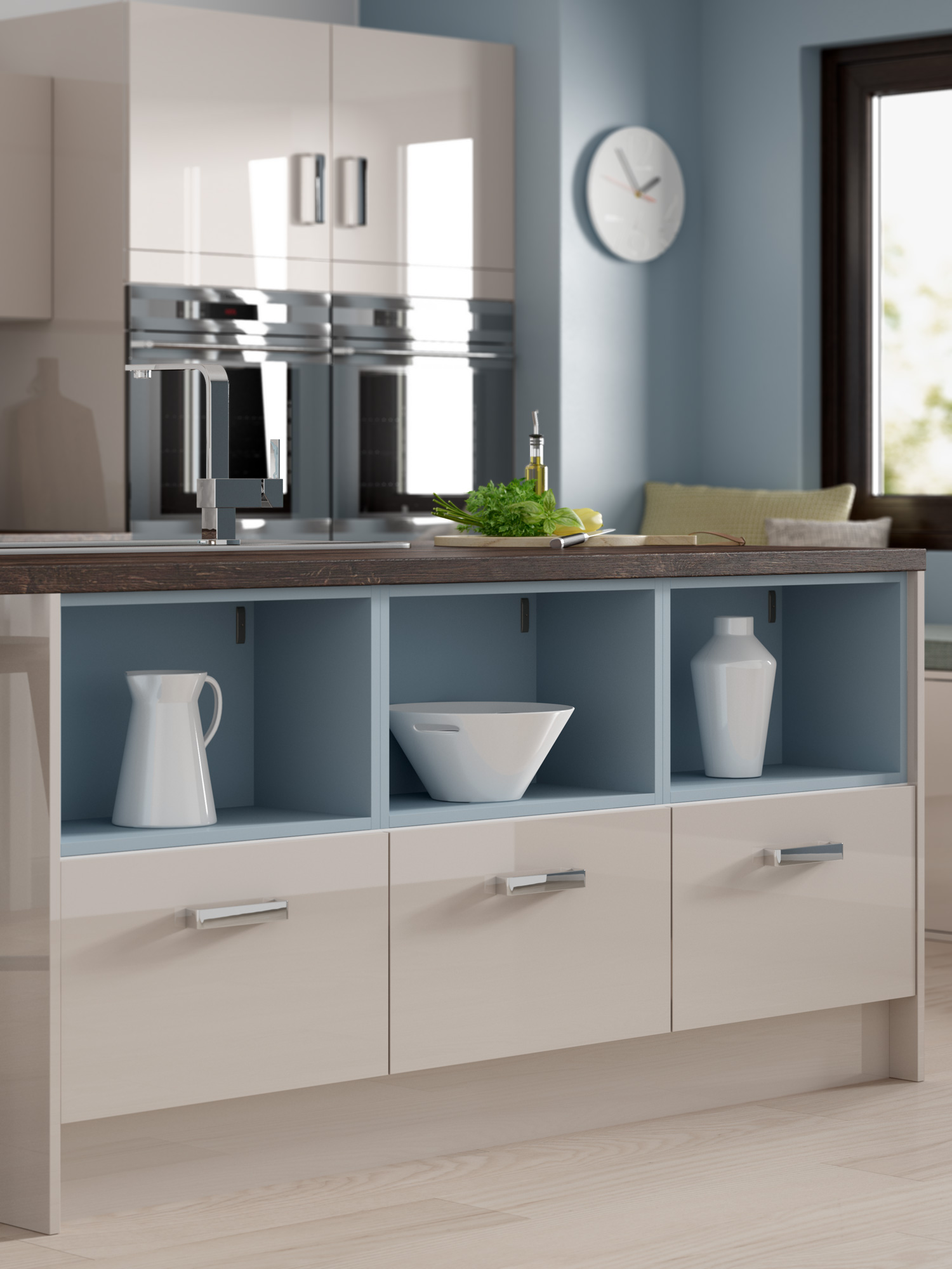 UK Kitchens and Bathrooms The refined luxury of cashmere gloss