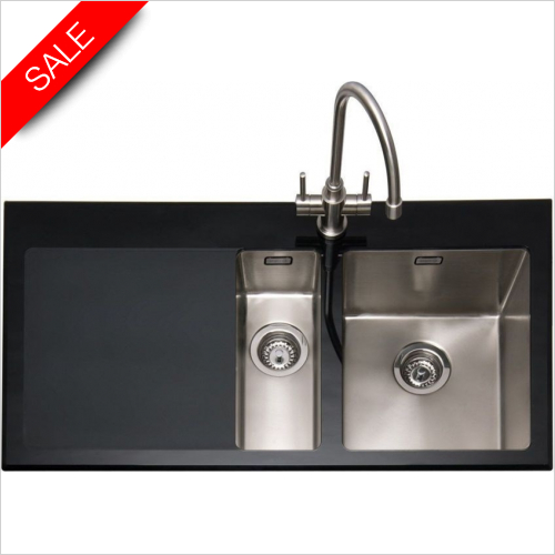 Vitrea 150 Inset Sink With LH Drainer